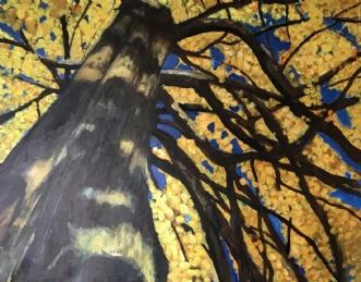 Så smuk er skoven  by Lis Severin | maleri