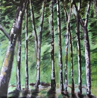 Hareskoven  by Lis Severin | maleri