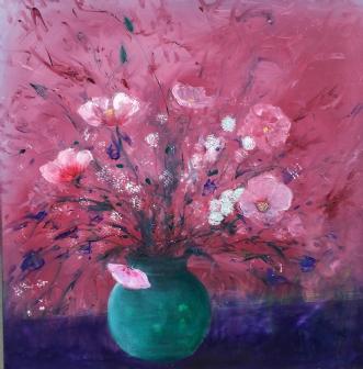 Buket med Høstanemo.. by Jannie Egholm | maleri