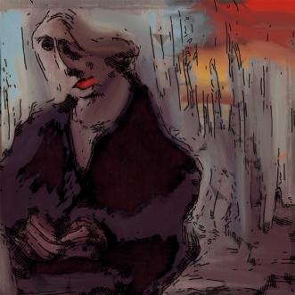 Solopgang  by Caroline Scheibel | tegning