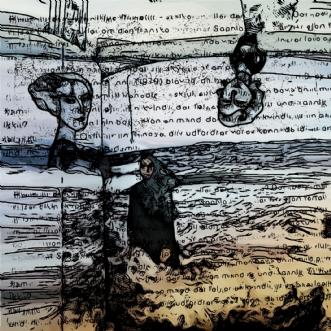 Kvinderne  ved have.. by Caroline Scheibel | tegning