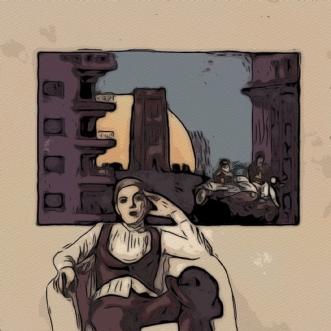 Venter på dig by Caroline Scheibel | tegning