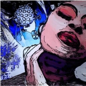Lyt i rummet by Caroline Scheibel | tegning