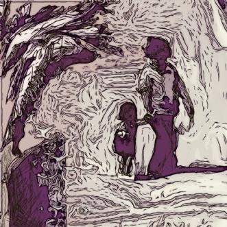 En hjælpende hånd by Caroline Scheibel | tegning