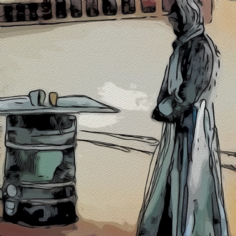 Tre  vise mænd nr1 by Caroline Scheibel | tegning