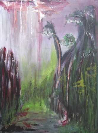 Den Lille pige by Merete Bilde Toft Movang | maleri