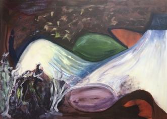 Vulkanlandskab by Merete Bilde Toft Movang | maleri