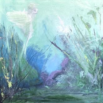 Wondering in Nature by Merete Bilde Toft Movang | maleri