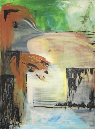 Psst by Merete Bilde Toft Movang | maleri