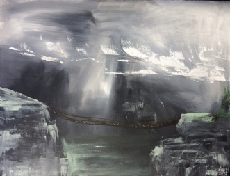 Broen Over by Merete Bilde Toft Movang | maleri