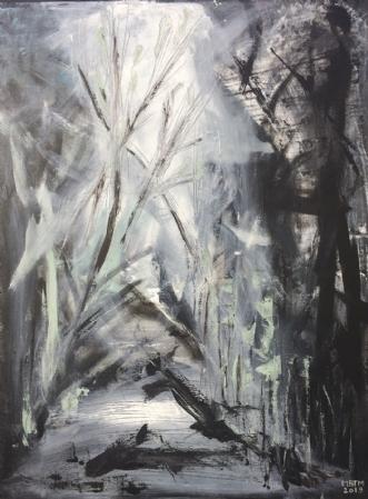 I Vejen by Merete Bilde Toft Movang | maleri