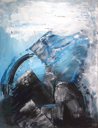 Rørte Vande by Merete Bilde Toft Movang | maleri
