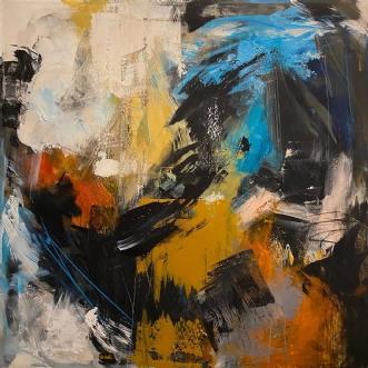 100 x 100 by Ann Sommer | maleri