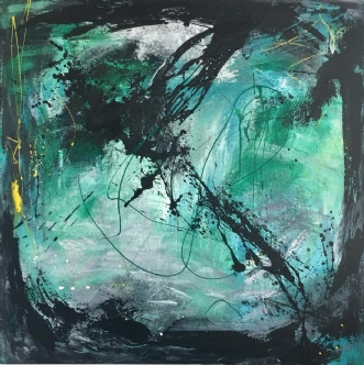 100 x 100 by Ann Sommer   maleri