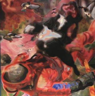 Kosmonauten by Lotte Lemor | maleri