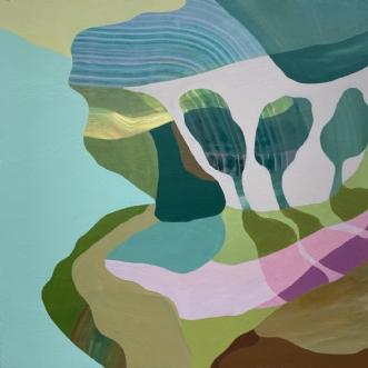 Trees of green by Line Højmann | maleri
