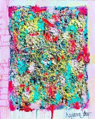 Circles by Marianne Johansen | maleri