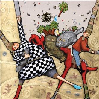 De sagde til mig, d.. by Jette Reinert | maleri