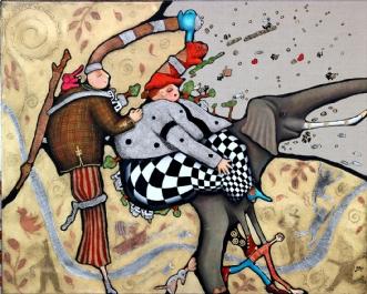 Ella fandt en hotdo.. by Jette Reinert | maleri