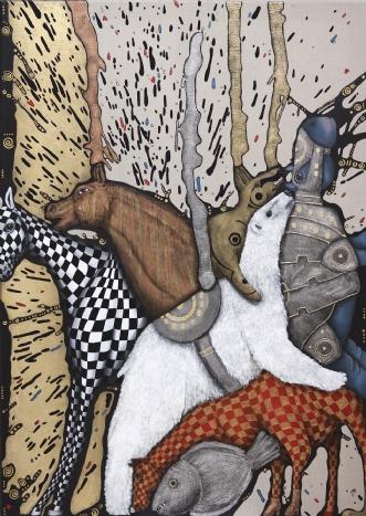Dine øjne løber i v.. by Jette Reinert | maleri