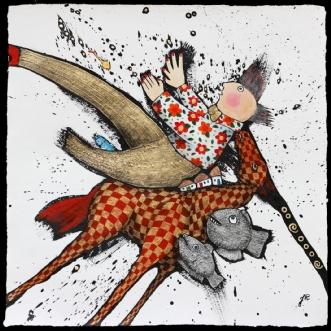 Hørte du det, han p.. by Jette Reinert | tegning