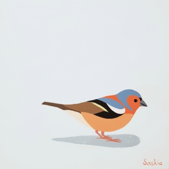 Chaffinch by Saskia Gooding   maleri