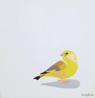 Greenfinch by Saskia Gooding | maleri