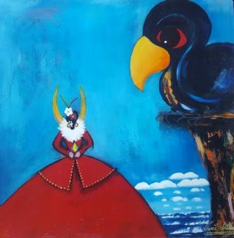 Fugl og Fe No XX by Tine Lilholt | maleri