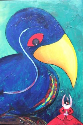 Fugl & Fe No. XIV by Tine Lilholt | maleri