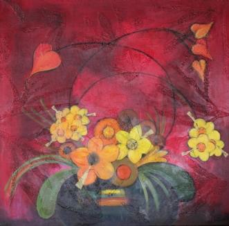 Sommerrød BlomsterblæserafTine Lilholt