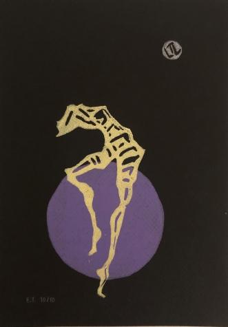 Linoleumstryk I by Lene Tranberg Laustsen | tegning