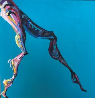 Lille Danser IV by Lene Tranberg Laustsen | maleri