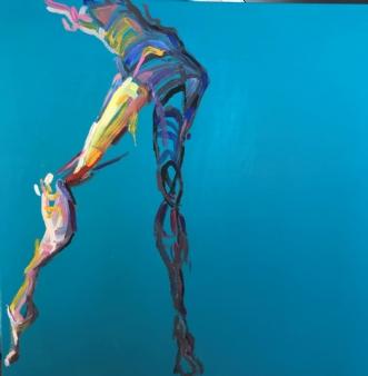 Lille Danser V by Lene Tranberg Laustsen | maleri