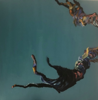 Interaktion IV by Lene Tranberg Laustsen | maleri