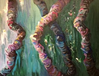Skov I by Lene Tranberg Laustsen | maleri