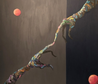 Ræk Ud I by Lene Tranberg Laustsen | maleri