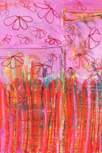 Indånding af frihed by Dorthe Gram | maleri
