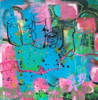 Ingen titel by Dorthe Gram | maleri