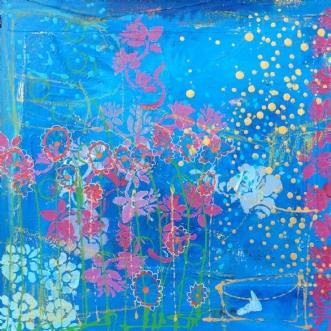 Sommmernat by Dorthe Gram | maleri