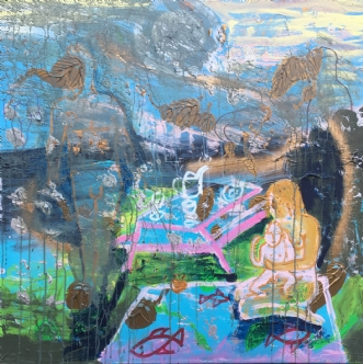 Den tabre familie by Lotte Kjøller | maleri