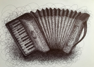 Harmonika Streg by Sofie Mellies | tegning