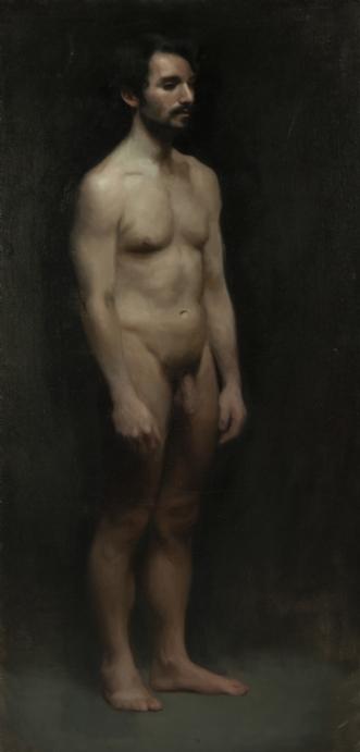 Nude Man by Nina C Winther | maleri