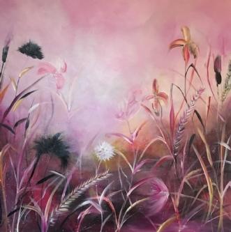 Flowertales by Anne Krøjer | maleri