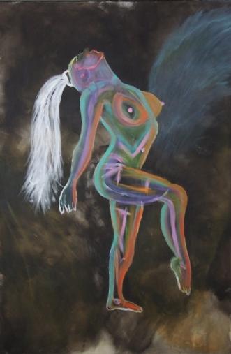 Gaia by Helle Chanell Johansen | maleri