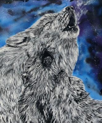 SANGTIMER HOS MOR by Lenea Væver | maleri
