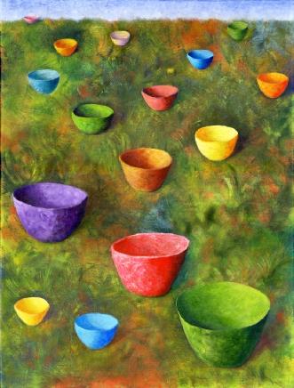 Landet by Lene Weiss | maleri