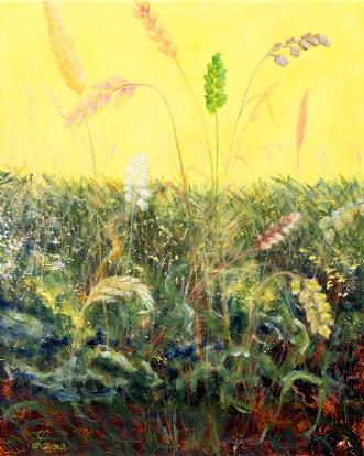 Sol og sommer (Sun .. by Lene Weiss | maleri