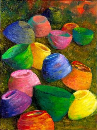 Væltede skåle (Overturned bowls)afLene Weiss