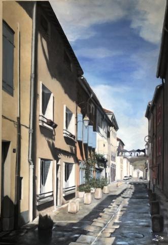 Rue Jean Fournier, .. by Heidi Kaas | maleri