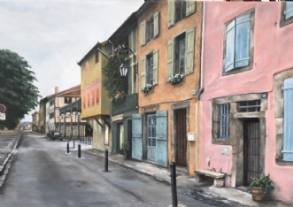 Rue du Maréchal Cha.. by Heidi Kaas | maleri